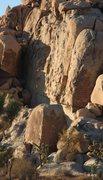 Rock Climbing Photo: Climber on Flake and Bake
