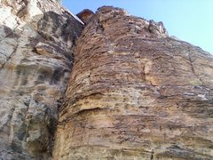 Rock Climbing Photo: Looking up at Past Lives from the base of the Firs...