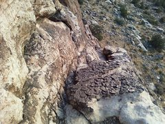 Rock Climbing Photo: Looking down from the Exodus Variation to the 2nd ...
