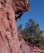 Rock Climbing Photo: Nick at the lip.