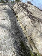 Rock Climbing Photo: This is the correct corner. Note, there is a wet l...