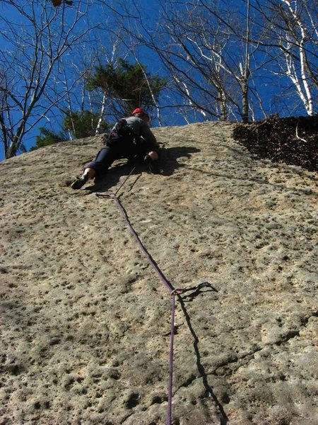 Rock Climbing Photo: Todd Paris leading the FA of H1N1.