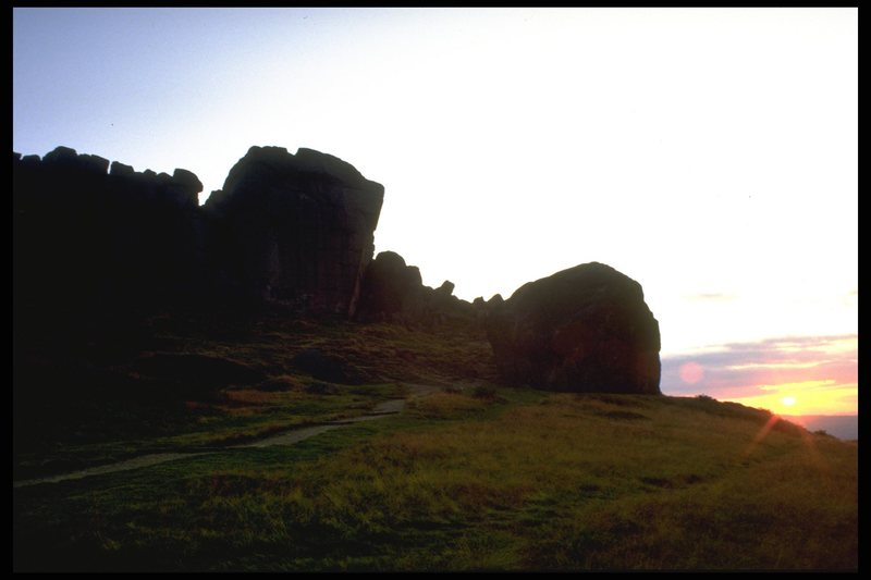 The Cow and Calf at sunset