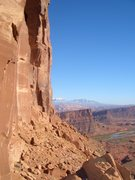 Rock Climbing Photo: Looking toward the LaSal mountains from the saddle...