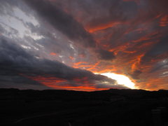 Rock Climbing Photo: sunset over horsetooth