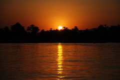 Rock Climbing Photo: Sunset along the Nile, Photo by Tony B, 2007.