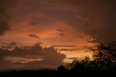 Rock Climbing Photo: Sunset, post monsoon, Tucson, Az