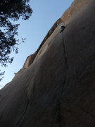 "Rock Climbing Photo: Finishing out the lead of ""Far Reaches"" ..."