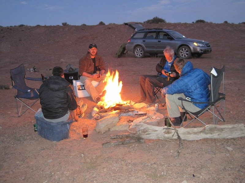 Evening camp site at The Reef