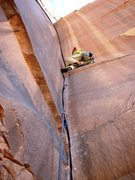 Rock Climbing Photo: About to switch into the overhanging handcrack on ...