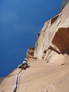 Rock Climbing Photo: Ginger through the buisness on Scarface, Indian Cr...