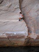 Rock Climbing Photo: Half way.
