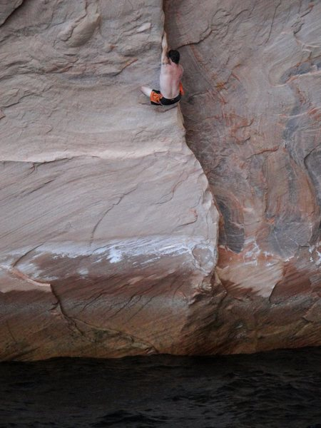 Rock Climbing Photo: This route is much steep that the photos lend you ...