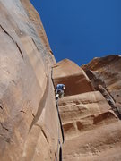 Rock Climbing Photo: Good view of the perfect hand crack on Wavy Gravy,...