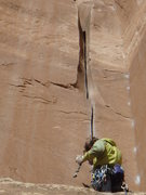 Rock Climbing Photo: Plug a .75 up high and go for the tricky start on ...