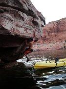 Rock Climbing Photo: Starting from A Kayak