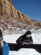 Rock Climbing Photo: Sun, snow, no crowds (for a day)- November 09, Ind...