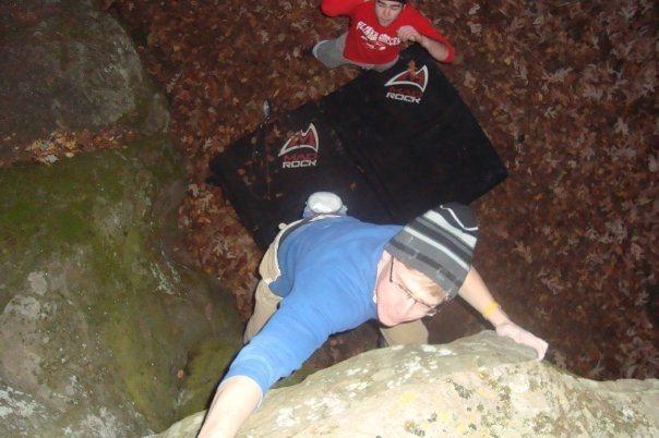 Rock Climbing Photo: Skyler sending the backside