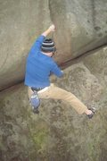 Rock Climbing Photo: transitioning to the crack...