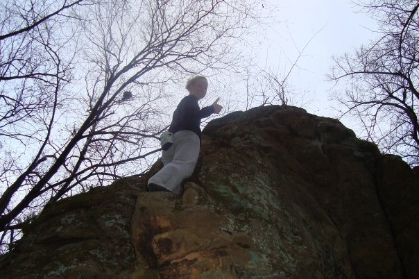 Rock Climbing Photo: Tots likes it chossy