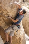 Rock Climbing Photo: Jamie makes quick work of the crux crimps on Hidde...