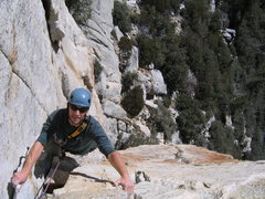 Rock Climbing Photo: 1st pitch of the Open Book, Tahquitz Rock