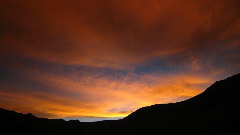 Sunset, Zanskar region, India