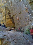 Rock Climbing Photo: Working through the technical start, photo by Adri...
