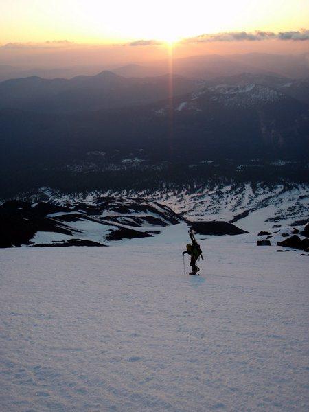 Sunrise on the east side of Mt Shasta