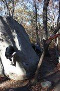 Rock Climbing Photo: Yellow Arete- metro Atlanta classic