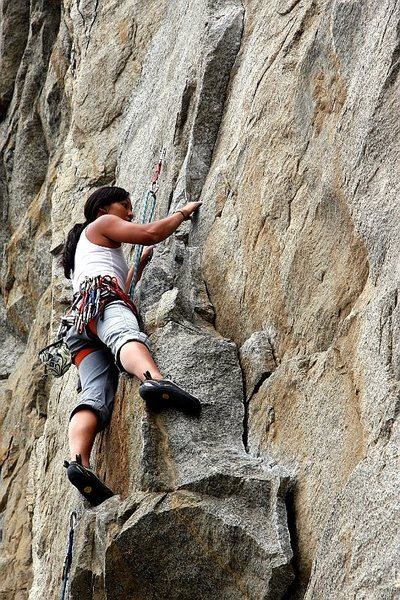 Rock Climbing Photo: first try at leading Trundle Trophy, Riverside Qua...