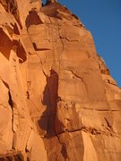 Rock Climbing Photo: Middle Way at sunset