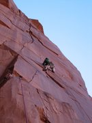 Rock Climbing Photo: Carter on the first pitch