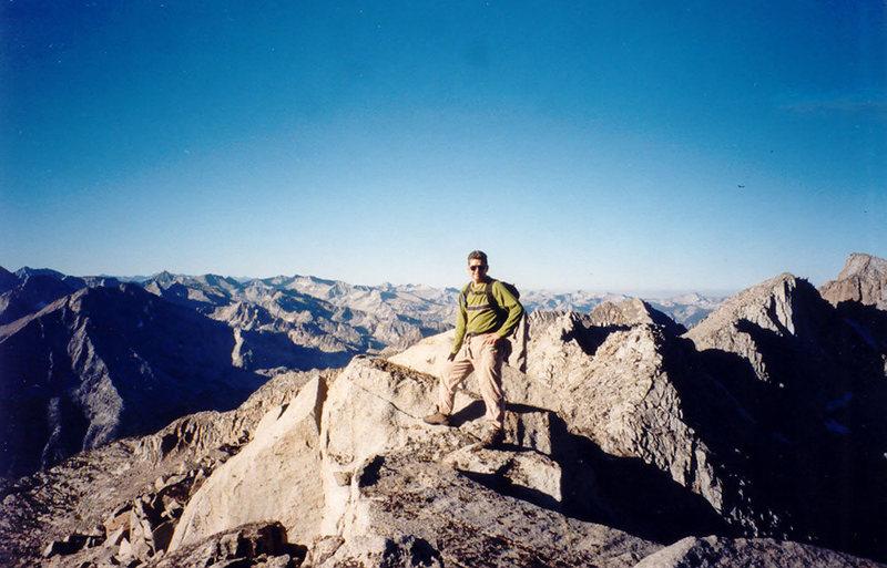 On the summit of Columbine Peak.