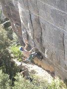 Rock Climbing Photo: Ian doing the opening moves.