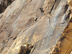 Rock Climbing Photo: Cruxin' on p3. Unknown climbers, photo taken Nov. ...