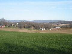 Rock Climbing Photo: Ancient Baraboo Range.  Viewed from the south (acr...