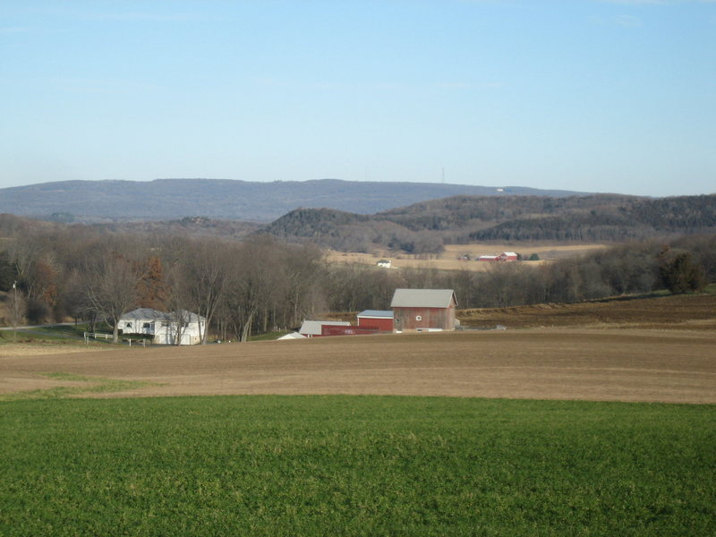 Baraboo Range / Sauk Point<br> The highpoint of these ancient hills with an elevation of 1593 Ft.