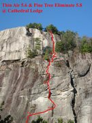 Rock Climbing Photo: The Thin Air route with Pine Tree Eliminate at the...