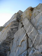 Rock Climbing Photo: 5-September-2009: Me leading the North Face (5.8) ...