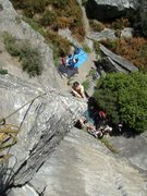 Rock Climbing Photo: Looking straight down from the top of Headbanger's...