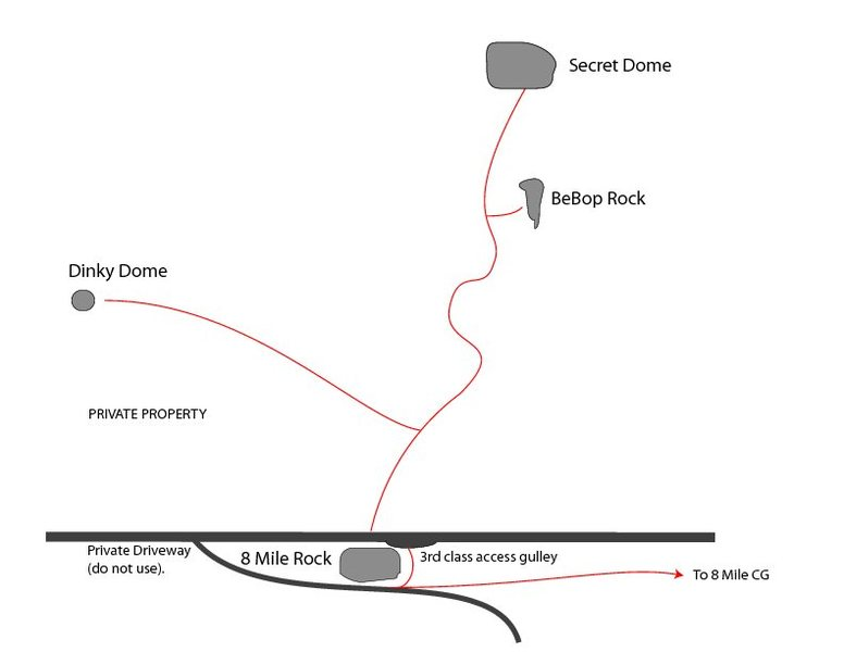 Rock Climbing Photo: Map to Bebop Rock
