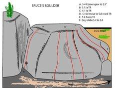 Rock Climbing Photo: Bruce's Boulder Topo