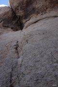 Rock Climbing Photo: Looking up on the hangerless Caramel Crunch