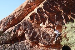 Rock Climbing Photo: Moving to the overhanging rock edges on 'The Boila...