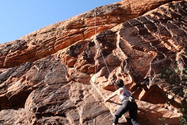 Rock Climbing Photo: Working 'The Boila' at New Castle Crag.