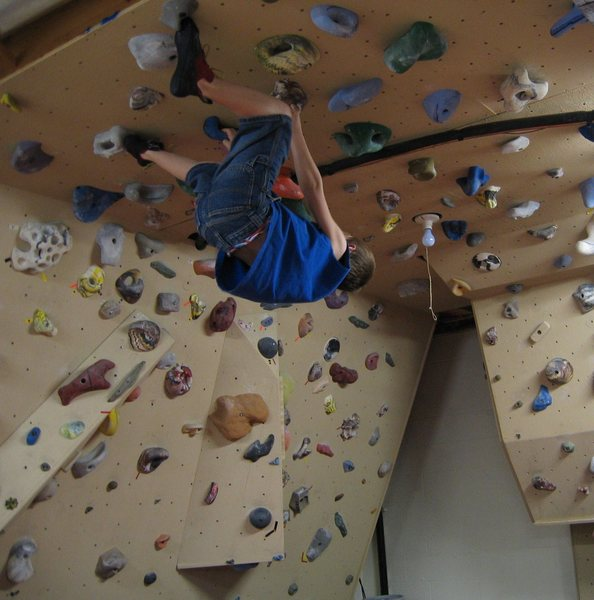 Rock Climbing Photo: My young son.