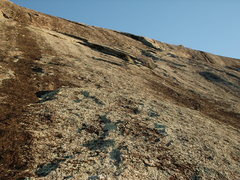 Rock Climbing Photo: P1 with Fat Man Flake just right of top middle.  A...