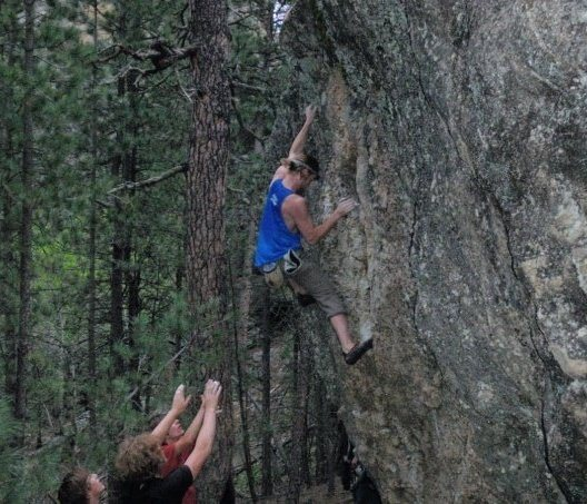 Rock Climbing Photo: getting close
