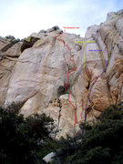 Rock Climbing Photo: View of some routes in the Middle Section of Grani...